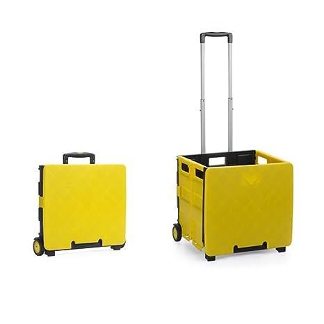 Amazon.com: Carro plegable de dos ruedas plegable carrito de ...