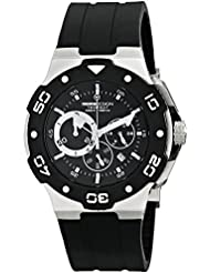 Momo Design Mens MD1004-02BKWT-R Tempest Analog Display Swiss Quartz Black Watch