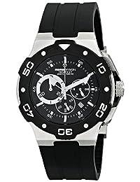 Momo Design Men's MD1004-02BKWT-R Tempest Analog Display Swiss Quartz Black Watch