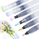 Water Colouring Brush Pens, Fuumuui Set of 6 Watercolour Painting Brushes for Water Soluble Colored Pencils, Water Color Water-Base Markers, Powdered Pigment Watercolor Paints Art Supplies