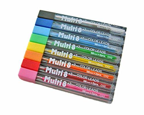 Pentel 16 Minas (8 Tubos) 2mm  Multicolor