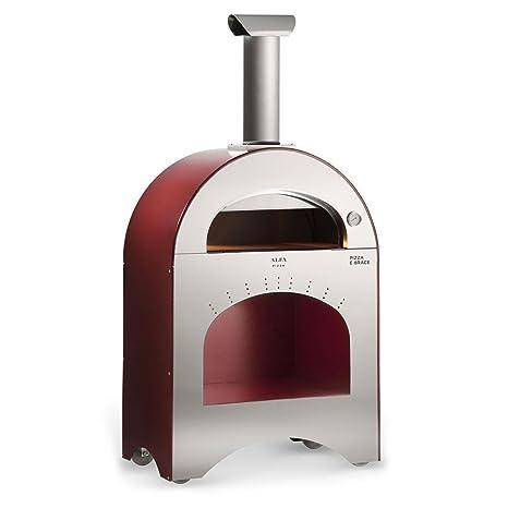 Forno A Legna Da Esterno In Acciaio Alfa Pizza Pizza E Brace: Amazon ...