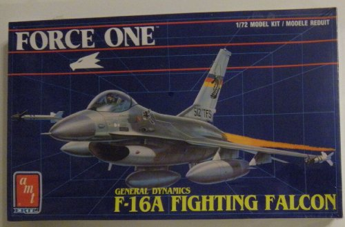 Force One ~ General Dynamics F-16A Fighting Falcon ~ 1/72 Model Kit (F-16a Falcon Fighting)