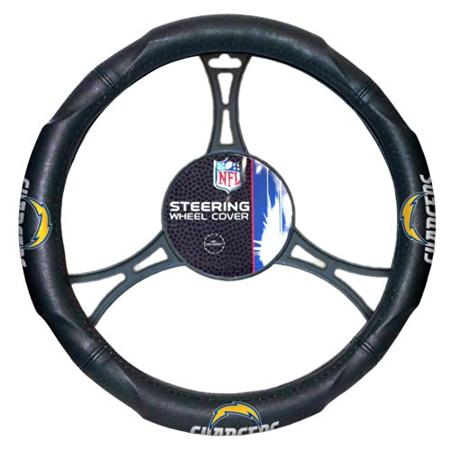 NFL San Diego Chargers Steering Wheel Cover, Black, One Size (Steering Wheel Cover Chargers compare prices)