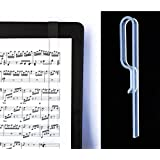 Music Stand Page Holder- Clear Grip 2-pack