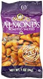 Madi K's Roasted and Salted Almonds, 1-Ounce Bags (Pack of 48)