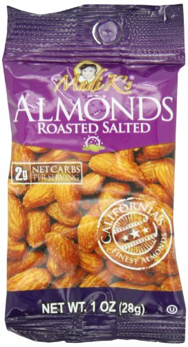 Madi Ks Roasted and Salted Almonds, 1-Ounce Bags (Pack of 48)