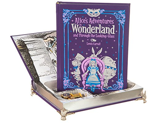 real-hollow-book-music-box-alices-adventures-in-wonderland-and-through-the-looking-glass-by-lewis-ca