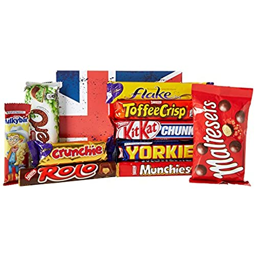 The Top 10 Favourite BRITISH Chocolate Bars Gift Box   By Moreton Gifts    Best Gift For Chocolate Lovers