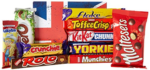 The Top 10 Favourite BRITISH Chocolate Bars Gift Box - By Moreton Gifts - Best Gift for Chocolate - Christmas Box Selection
