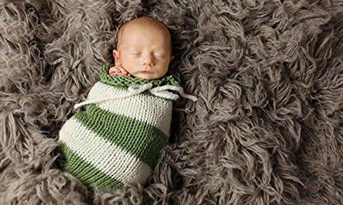 [Newborn Baby Sleeping Bag Photography Photo Prop Wrap Baby (White&Green)] (Zombie Baby Halloween Prop)