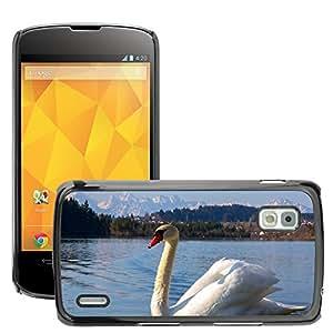 GoGoMobile Slim Protector Hard Shell Cover Case // M00118364 Swan Bird White Lake Water Bird // LG Nexus 4 E960