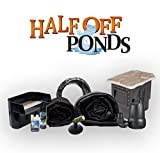 """Half Off Ponds SC0 - Small Combo Pond Kit w/ 15' x 20' LifeGuard Pond Liner, 3,300 GPH Pump, 16"""" Waterfall, and Skimmer"""