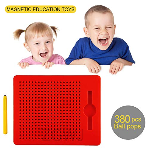 ZGWJ Magnetic Drawing Board,Free Play Doodle Magnetic Drawing Tablet with Stylus Pens