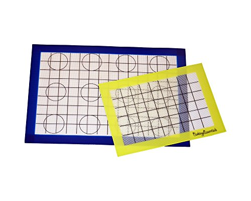 UPC 687927780521, Baking Essentials Silicone Baking Mats. Non-Stick, FDA Approved Silicone. Oven, Microwave, Freezer safe. Set of 2