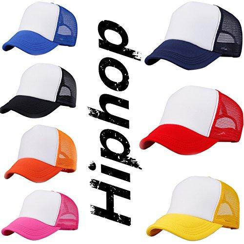 max casquette malla media circunferencia de ajustable verano 60cm Azul béisbol la de negro pico cabeza de de para WDILO con Sombrero Kappe transpirable 4qCwvRg