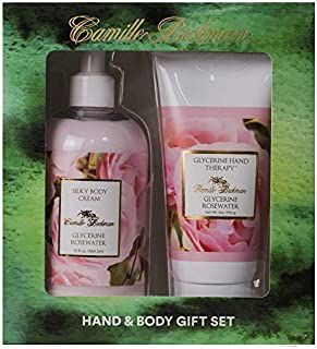 product image for Camille Beckman Hand and Body Duet Set, Silky Body and Glycerine Hand Cream, Glycerine Rosewater