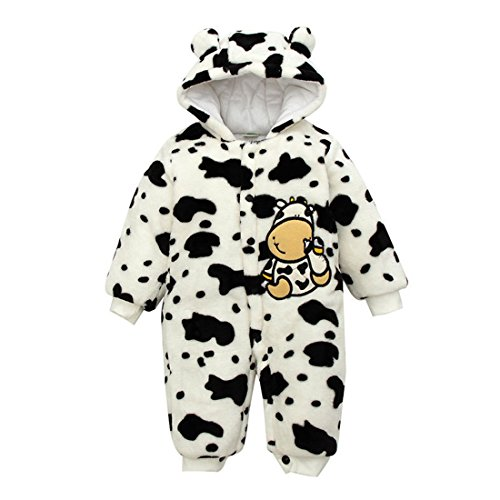 Cow Bunting Costume (Zerowin Baby Boys Girls Thicker Romper Cute Cow Jumpsuit Warm Outerwear Unisex Caroset (3-6M, 2))