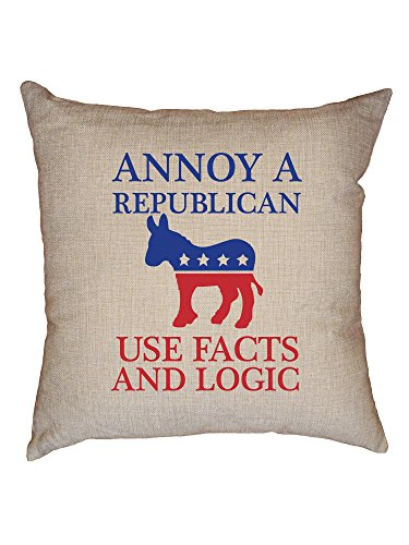 Hollywood Thread Annoy A Republican Use Facts Logic Democrat Support Decorative Linen Throw Cushion Pillow Case with ()