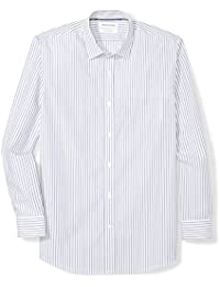 Men's Regular-Fit Wrinkle-Resistant Long-Sleeve Stripe Dress Shirt