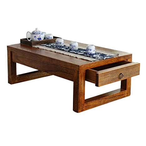 Table En Bois Massif Avec Tiroir Tatami Petite Table Basse Balcon