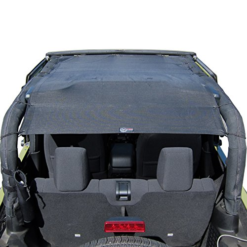 Price comparison product image TUFFSHADE JK2D - Full Mesh Bikini Sun Shade Safari Brief Top Cover UV Wind Shield With Zip Storage Pockets For 2007-2016 Jeep Wrangler JK 2-Door Models by Rugged TUFF