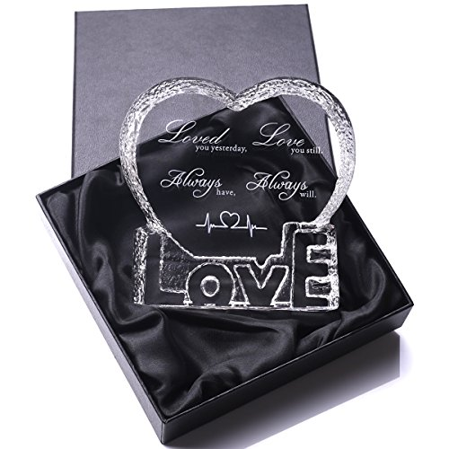 YWHL Love Crystal Sculpture gifts for Anniversary,Wedding,Valentine's Day by YWHL (Image #4)
