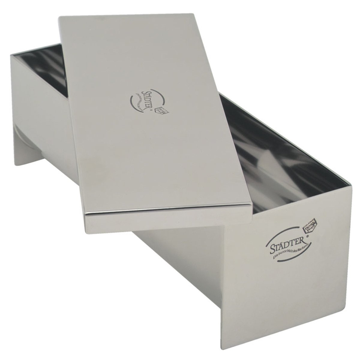 Städter 62207 Pie and Terrine Dish with Lid 230 x 75 x 75 mm 1 Litre Rustproof Stainless Steel