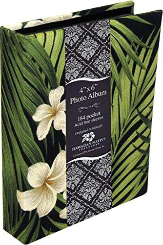 Islander Photo Album Fabric Covered 184 View Plumeria Palm