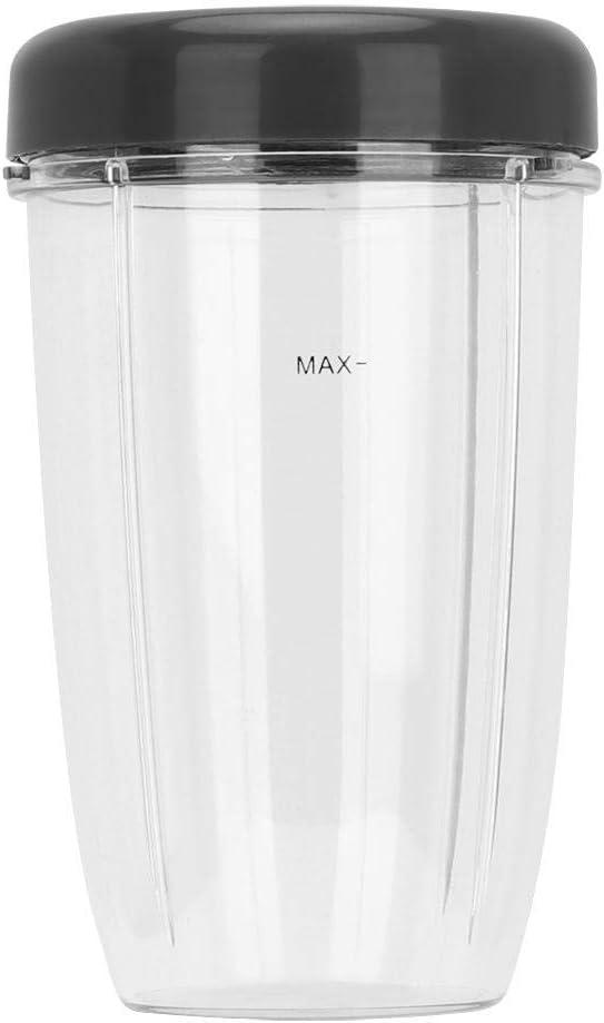Aramox Kit de Partes de licuadora Cup + Lid para reemplazo de Accesorios de licuadora 900W, Accesorios para exprimidor 900W Juice Cup Lid(24Oz)