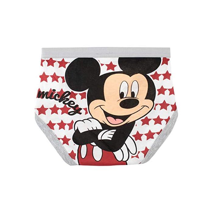 Pack de 5 interiores para niños de Mickey Mouse. ¡Una prenda perfecta para los pequeños mosqueteros! 100% Algodón