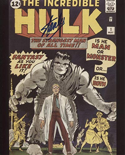 Stan Lee Signed/Autographed The Incredible Hulk #1 8x10 Glossy Photo. Includes Fanexpo Fanexpo Certificate of Authenticity and Proof. Entertainment Autograph Original. from Star League Sports