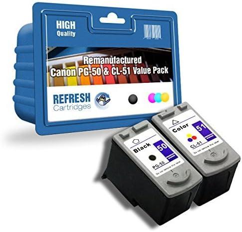 Twinpack PG-50/CL-51 Negro 0616B001/tricolor 0618B001 Remanufacturado ALTA CAPACIDAD Cartuchos para uso con Canon Pixma iP2200,MP150,MP160,MP170,MP180,MP450,MP460,MX300,MX310 Impresoras: Amazon.es: Oficina y papelería