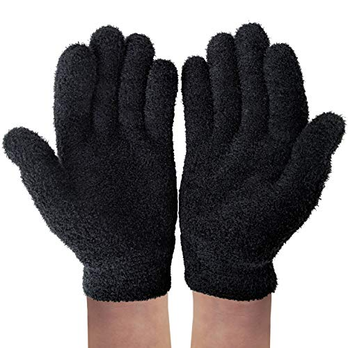 NatraCure Gel Moisturizing Gloves - Black (Lavender Scent) - (For Anti-Aging and Relief from Eczema and Dry, Rough, and Cracked Hands)