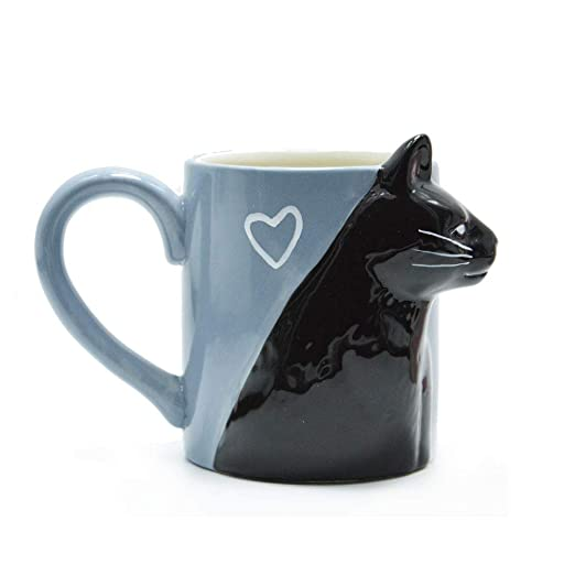 PYMNDZ Taza de Gato Pareja de Gatos estéreo Taza de cerámica Beso ...