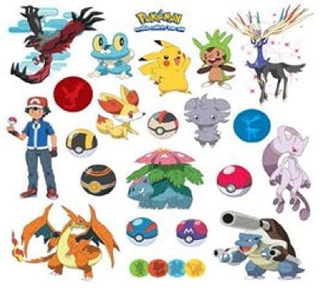 Amazon.com: NUEVO Muro de Pokemon XY pegatinas 24 ...