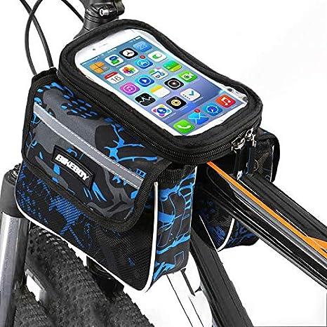 Bolsa Bicicleta Cuadro soporte movil bicicleta bici funda Valida para Smartphones de hasta 7.5