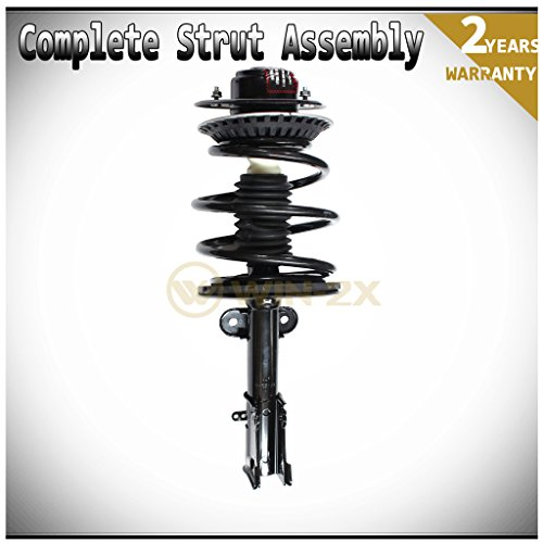 WIN-2X New 1pc Front Left Quick Complete Suspension Strut Shock Coil Spring Assembly Kit Fit 01-07 Chrysler Town & Country & 01-03 Voyager & 01-07 Dodge Caravan/Grand Caravan