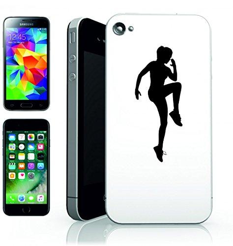 Smartphone Case Esercizio di fitness femminile della ragazza di salute umana gente della persona della silhouette della donna di Esercizio per Apple Iphone 4/4S, 5/5S, 5C, 6/6S, 7& Samsung Galaxy