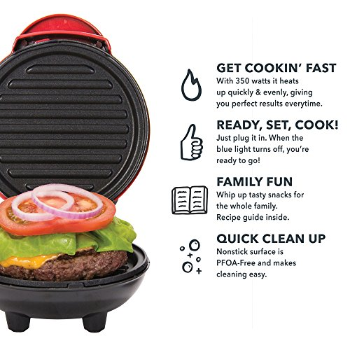 Dash Mini Portable + Panini Burgers, Other with Aqua
