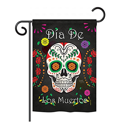 Breeze Decor G162009 Dia de los Muertos Fall Halloween Impressions Decorative Vertical Garden Flag 13