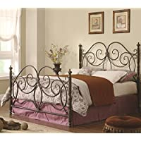 Coaster 300258KE Home Furnishings Bed, Eastern King, Dark Bronze