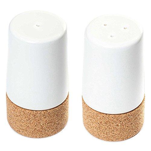 Amorim Cork Ceramic Salt & Pepper Shakers (Set of 2) (PEARL) - Cork For Salt Shaker