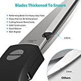 Kitchen Scissors, OMOCOOK Multipurpose Heavy Duty Kitchen Shears, Ultra Sharp, Premium Utility Scissors for Chicken, Fish, Poultry, Herbs, Vegetable, BBQ, Fruit, Seafood, Bones [Stainless Steel/Black]
