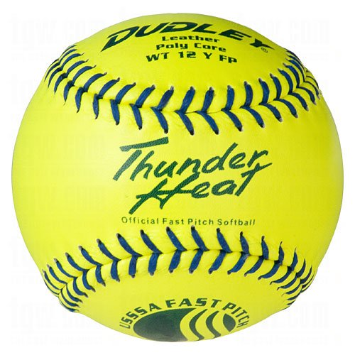 Heat Fast Pitch Softball - 12 pack (Poly Core Leather Fastpitch Softball)