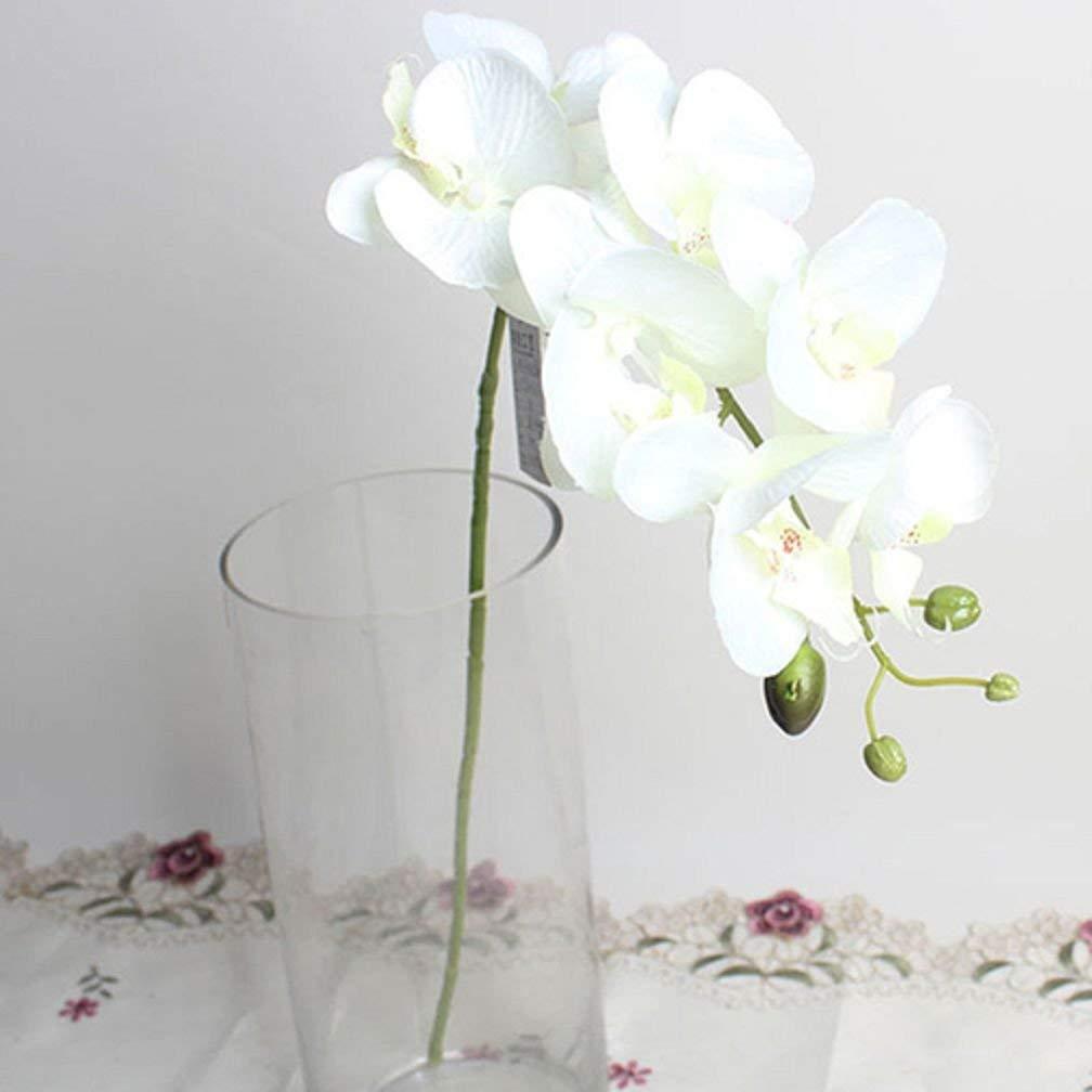 Maylife 造花 フェイク クロス 蝶 オーキッド フラワー ウェディング ホームデコレーション ホワイト 1枚 B07GK35SPH