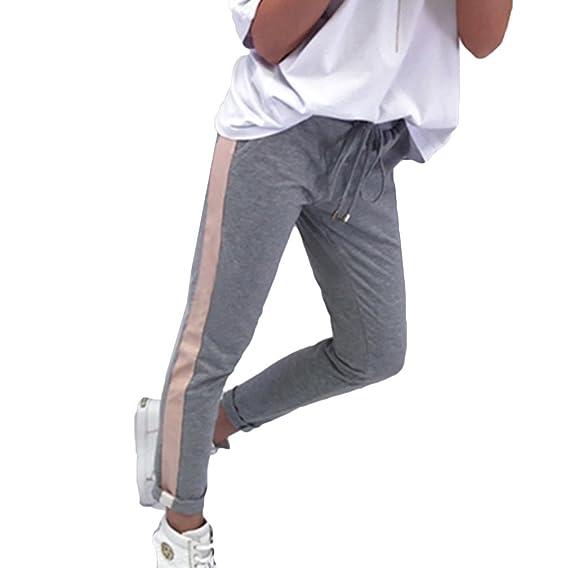 Yying Pantalones Lápiz para Las Mujeres del Estiramiento Elástico con  Cordón De Cintura Alta Vaqueros Ajustados 8b1481fbca8