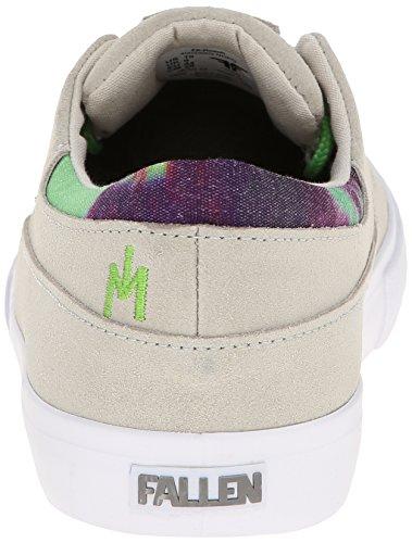 FALLEN Skate Shoes JON DICKSON Roach Newsprint Gray/Psych Green Size 6