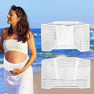 Belly Belt,Maternity Support Belt Back Support Belt Adjustable Design with Elastic Breathable Band Lumbar/Abdominal…