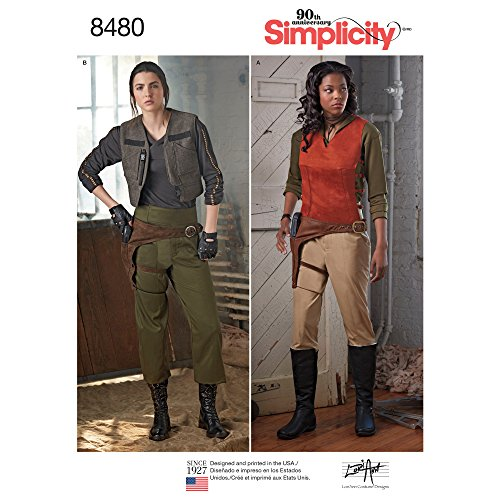 Simplicity 8480 Women's Space Western Costume Sewing Patterns, Sizes -